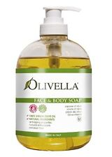 Natural Face & Body Soap Cleanser made from Italian Virgin Olive Oil by Olivella