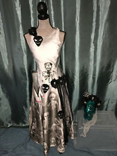 Day of the Dead gray dress COSTUME Halloween cosplay OOAK size 8 unique Mexican