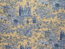 "Waverly ""Lantern Festival Toile"" Oriental  countryside scene BTY color yellow"
