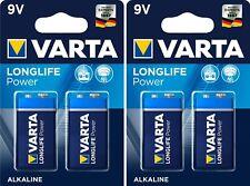 Piles 9V Alcaline 6LR61 Varta Longlife Power X 4