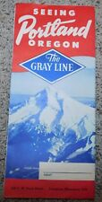 1950's Seeing Portland Oregon Gray Line Bus Sight Seeing Travel Collectible