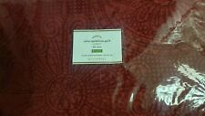 New POTTERY BARN Ruby Red Velvet Medallion Queen Quilt