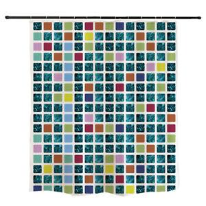 """Ofat Home Multicolor Würfel Duschvorhang Badezimmer Dekor """"72x72"""""""