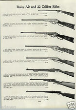 1933 PAPER AD Daisy Hamilton Air Rifle BB Gun Pump Action 22 Springfield