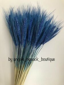 """100 STEMS DRIED WHEAT/RYE FOR FLOWERS ARRANGING READY TO USE BLUE BOUQUET 20"""""""