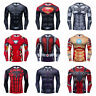 3D T-Shirts Marvel Superhero Avengers Costume Tights Sports Jersey Cycling Tops