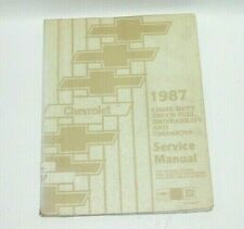 1987 Chevy Light Trucks Fuel Driveability Emissions Factory Service Manual  #G9