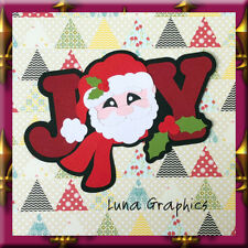 JOY SANTA Embellishment Card toppers &  Paper Piecing scrapbooking