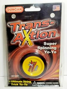 Vintage Duncan Yoyo - Trans-Action - Brand New Yellow Super Spinning