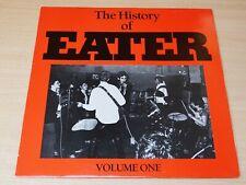 EX/EX- !! Eater/The History of/1985 Delorean LP/White Record/Punk