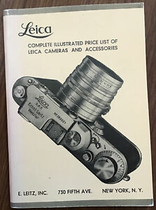Original Complete Illustrated Price List of Leica Cameras & Accessories, 1939*
