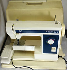 Vintage Sears Kenmore Zig-Zag Sewing Machine 158.1262182 w/ Case & Pedal Tested