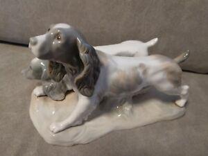 Lladro Nao?  Hunde Jagdhunde Setter Made in Spain