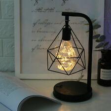 Retro Black Geometric Industrial BedSide Bulb Lamp Desk Lights Lamps Bed Light