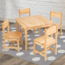 Kidkraft Farmhouse Table and Chairs - 4 Chair Set (Natural - 21421)