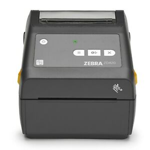 "Zebra ZD420 Direct Thermal Desktop Barcode Printer 4"" Bluetooth Ethernet USB"
