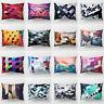HK- BH_ Fashion Rectangular Peach Skin Decorative Colorful Pillow Case Cushion C