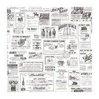 Chesapeake Adamstown Ivory Vintage Newspaper Easy Walls Wallpaper CTR64272
