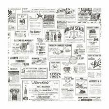 Chesapeake Adamstown Ivory Vintage Newspaper Easy Walls Wallpaper CTR64272