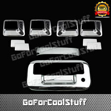FOR FORD 08-16 F-250/350 SUPER DUTY Chrome 4DR Handle w/PSKH+TG Cover KH