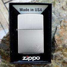 Zippo chrom satin  mit kostenloser Diamant - Gravur