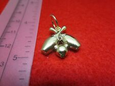 "14 KT GOLD PLATED  ABOUT 1"" LARGE BOWLING PINS AND BALL CHARM PENDANT-A104"