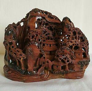 Sculpture en pierre de lard  stéatite ancienne chine début XXé