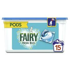 Fairy Non Bio Pods Washing Liquid Detergent Capsules, Sensitive Skin - 15 Washes