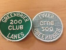 vintage bowling patch,  new old stock, 1970's 200 club greenbrier lanes