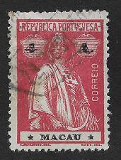 MACAU;  1913 Ceres 4A Carmine/Black Used (BX)