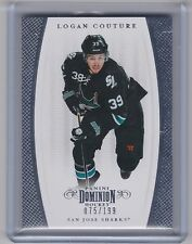 11-12 2011-12 DOMINION LOGAN COUTURE BASE CARD /199 56 SAN JOSE SHARKS