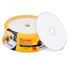 DVD-R 16x Kodak Inkjet Printable Blanco FF Tarrina 25 Uds.