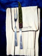 HERITAGE SILVER PLATED GRENOBLE PATTERN CARVING SET