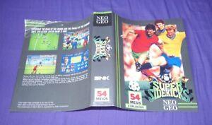 Neo Geo AES Insert Original Super Sidekicks US