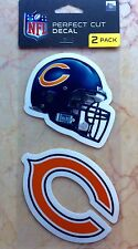 NFL Chicago Bears Decal Football Car Auto Window Stickers 2-Pack NICE