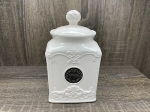 """THL Classic French Chic Rose Top """"Sugar"""" Canister w Lid Silver Emblem"""