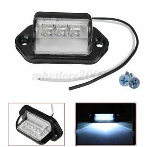 3-LED NUMBER LICENSE PLATE LIGHT INTERIOR STEP LAMP BOAT RV VAN TRUCK   -. +