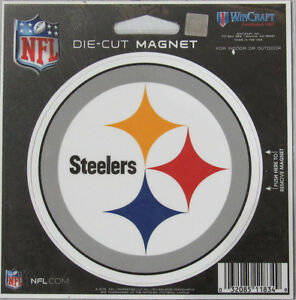 NFL Pittsburgh Steelers 4 inch Auto Magnet Die-Cut by WinCraft