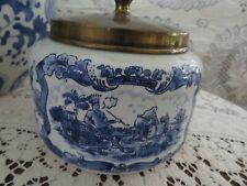 Vintage or Antique Goedewagon Delft Blue Holland Tobacco Jar Humidifier