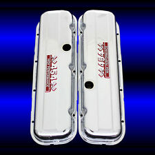 Chrome Valve Covers For Big Block Chevy 454 Engines Factory Height 454 Emblems