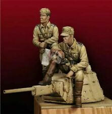 1/35 Resin Figure Model Kit Italian Soldiers Officers Tank Crew WWII Unpainted