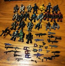HALO Mega Bloks Lot 24 figures, 29 weapons