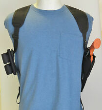 """Shoulder Holster for S&W 29 & 629 4"""" Revolver Double Speedloader Pouch"""