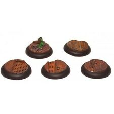 GFB002 30mm Round Edge Sci-Fi Industrial Resin Display Bases Warmachine 5pcs