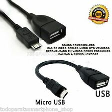 ADAPTADOR  CABLE MICRO USB OTG  ON THE GO 2.0  TABLETS Y SMARTPHONES PEN DRIVE