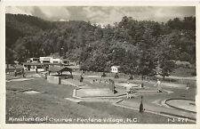 Miniature Golf Course - Fontana Village, North Carolina - Real Picture Postcard