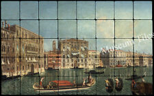 32x20 Venice The Grand Canal Mural Tumbled Marble Tiles