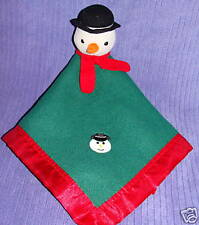 "BLANKETS AND BEYOND(?) SNOWMAN BLANKET 17"" X 17"" ~ BV4"
