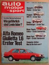 AUTO MOTOR UND SPORT 1.3.- 5/1978 Alfa Romeo Giuletta Renault Dodge Ramcharger