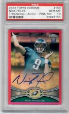 PSA 10 NICK FOLES 2012 TOPPS CHROME PINK REFRACTOR AUTO ROOKIE RC /75 SuperBowl